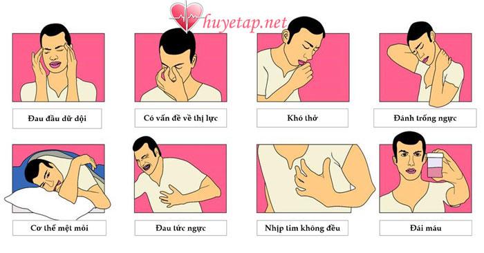 Các triệu chứng huyết áp cao 1