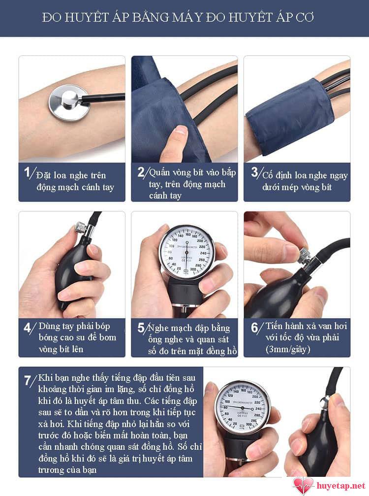 Hướng dẫn sử dụng máy đo huyết áp cơ đúng cách 1